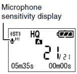 Olympus WS-210S Mic Sensitivity