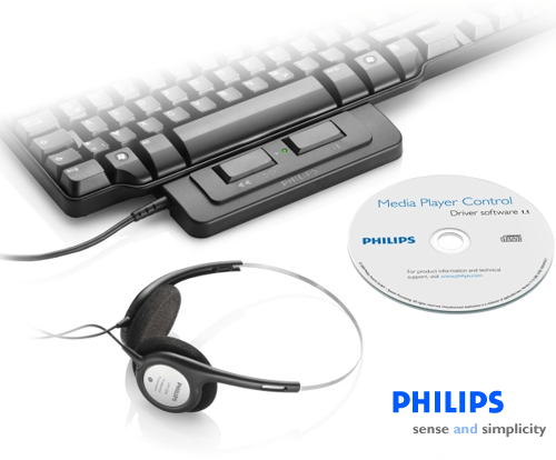 Philips LFH2370 Media Player Typing Set for Windows Media Player, QuickTime and iTunes - Mac or Windows