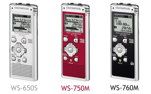 New Olympus WS-650S - WS-750M - WS-760M available from Dictate Australia