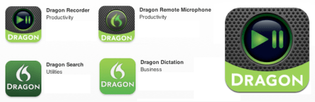 Nuance Dragon Recorder iOS iPhone iPad App for recording your voice