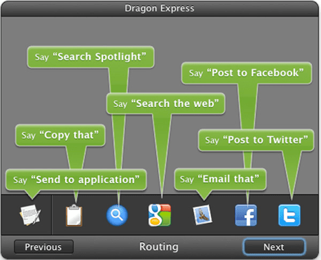 Nuance Dragon Express Mac App Routing Text To App - How To