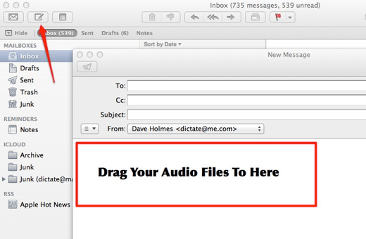 Send Olympus ds2 dss Audio Files Using Mac Mail