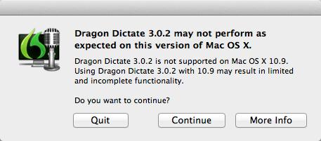 Dragon Dictate 3 Mac OS X 10.9 Mavericks