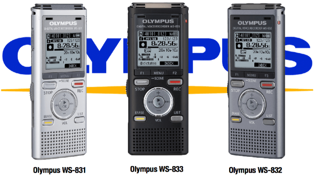 olympus ws-831 ws-832 ws-833 digital voice recorder dictate australia
