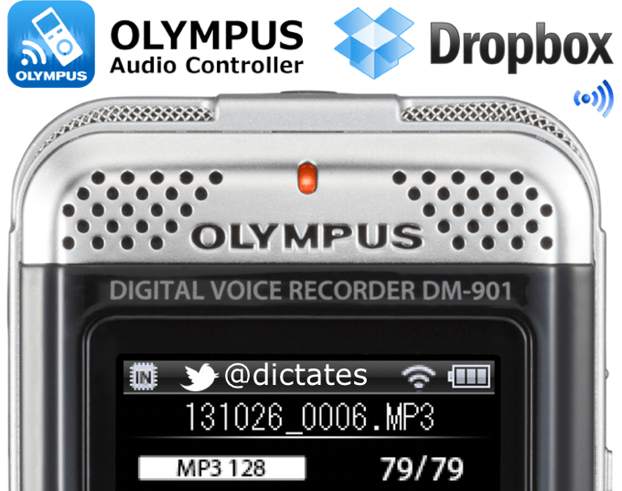 Olympus DM-901 WiFi Enabled Digital Voice Recorder