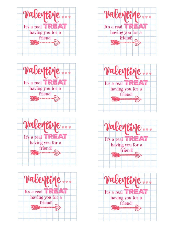 Treat Valentine Idea With Free Printable Tags