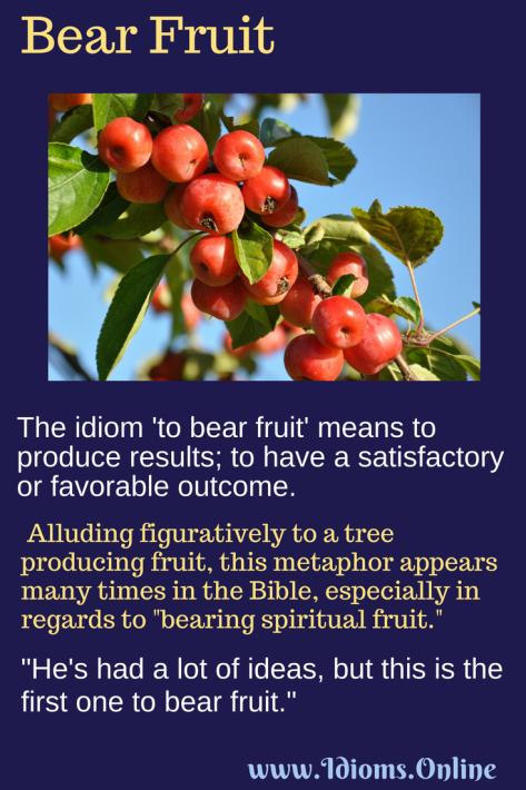 Bear Fruit | Idioms Online