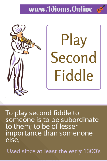 Play Second Fiddle Idioms Online