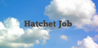 Hatchet Job