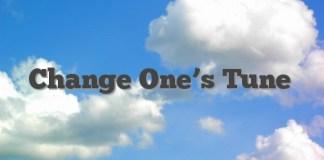 Change One's Tune