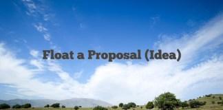 Float a Proposal (Idea)