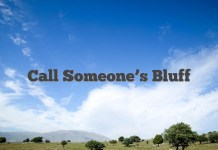 Call Someone's Bluff