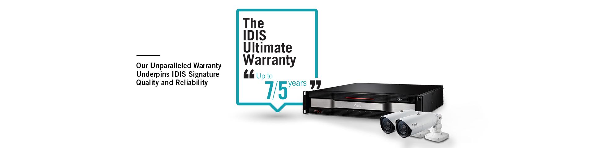 IDIS Ultimate Warranty