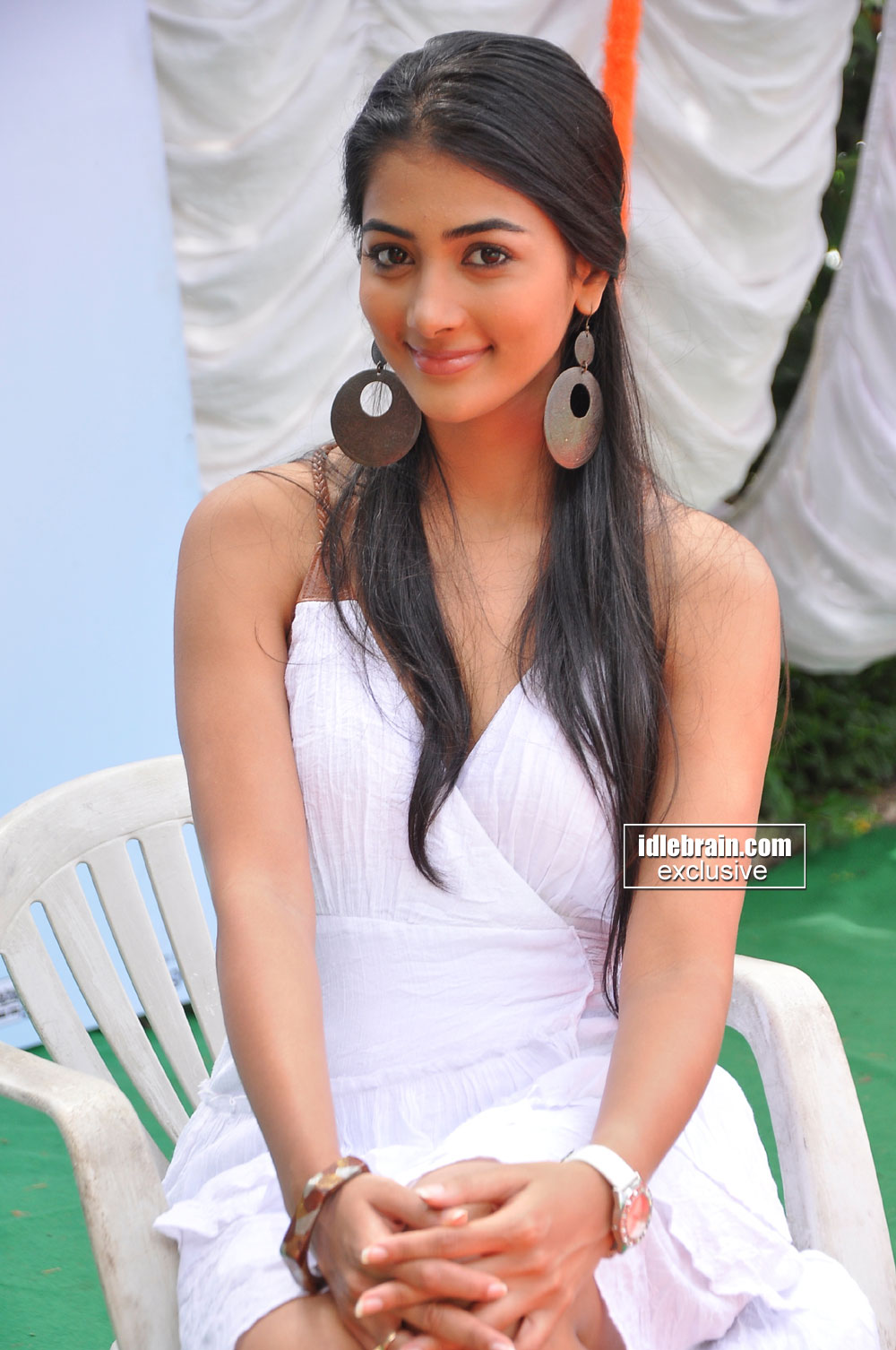Pooja Hegde in white