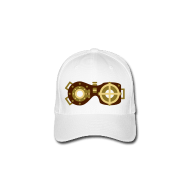 Cap with printed goggles