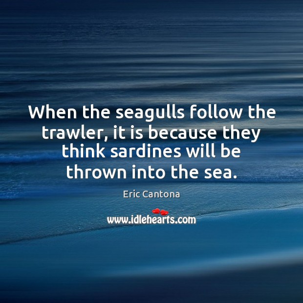 When the seagulls follow the trawler, it is because they think sardines will be thrown into the sea. When The Seagulls Follow The Trawler It Is Because They Think Sardines Idlehearts