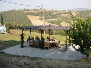 Villa Pia eating