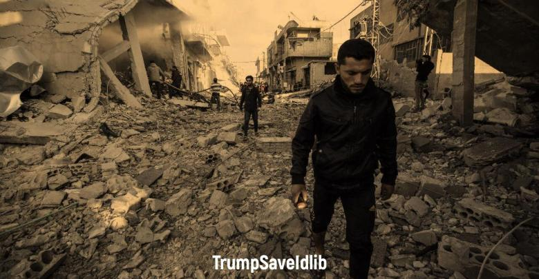 Photo of President Trump, this is an appeal from Idlib