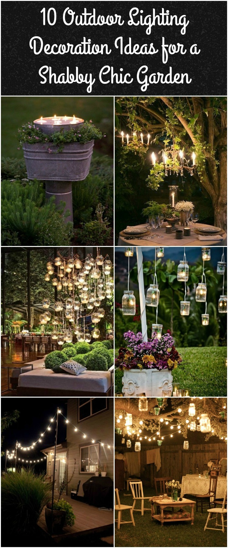 10 Outdoor Lighting Ideas for a Shabby Chic Garden #6 is ... on Chic Patio Ideas id=99872