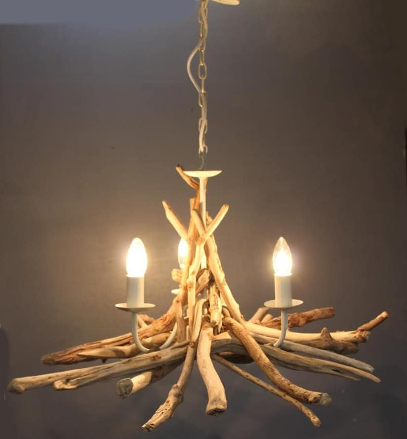 Simple Driftwood Pendant Light Chandelier ID Lights