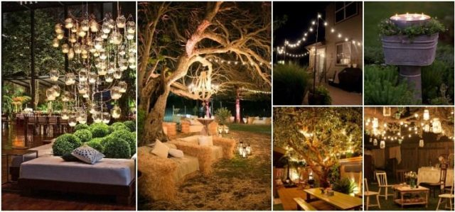 100 Outdoor Lighting Decoration Ideas for a Shabby Chic Garden