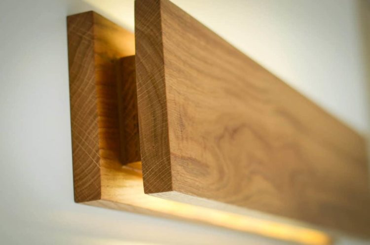 Handmade Oak Wooden Sconce - iD Lights on Wood Wall Sconces id=25108