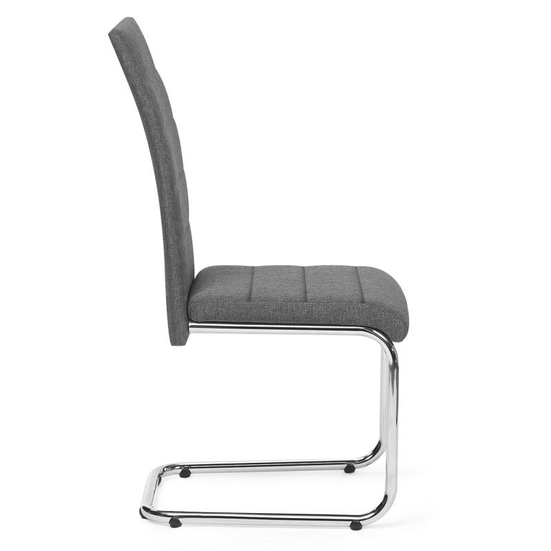 chaises en tissu gris anthracite pas