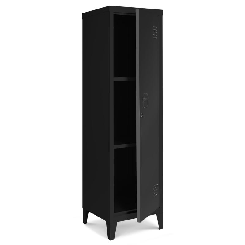 armoire vestiaire estel en metal noire