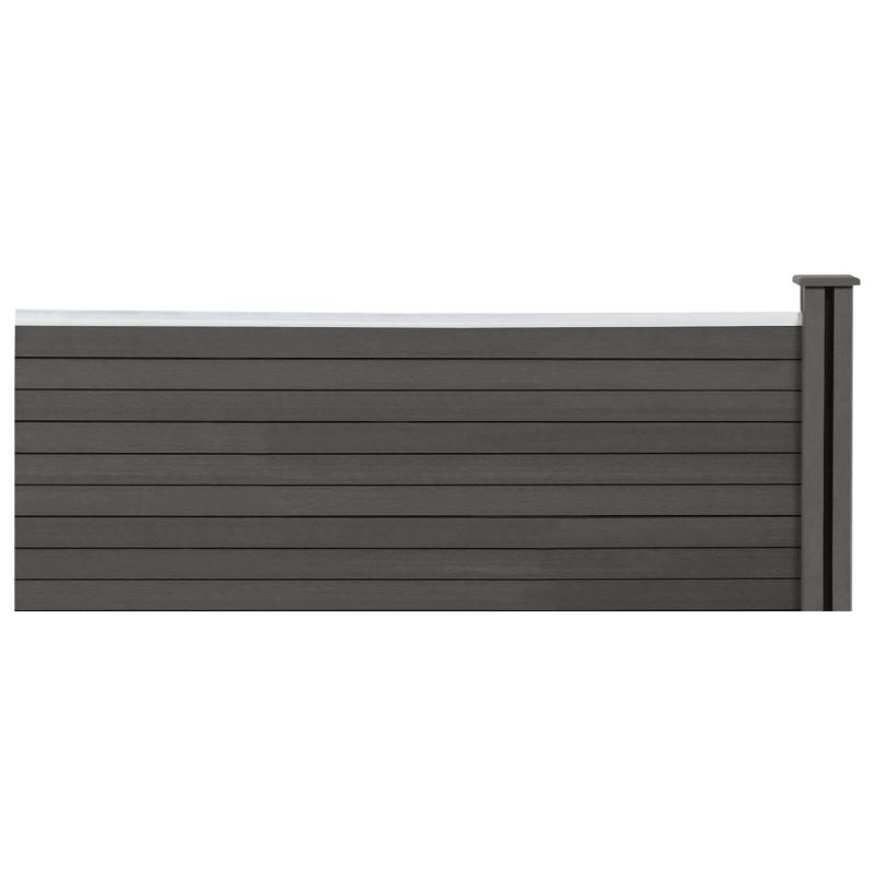 kit d extension panneau occultant rio en bois composite gris h 60 x l 160 cm