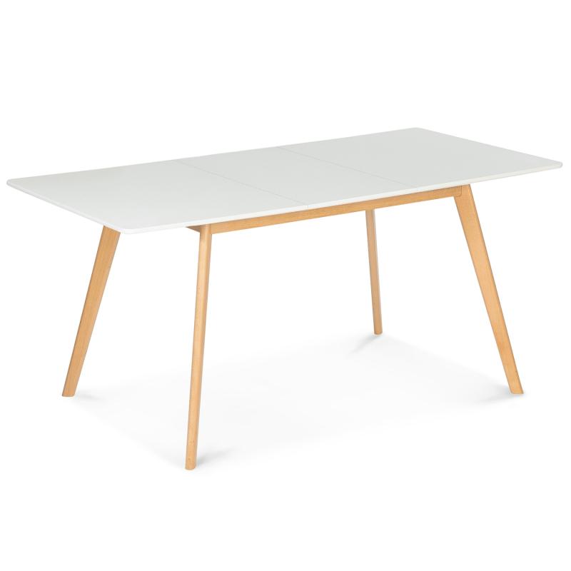 table scandinave extensible inga 120 160 cm blanche