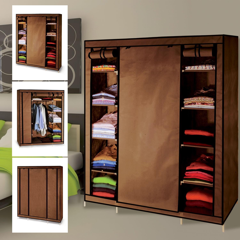 armoire de rangement chocolat dressing penderie xxl tissu meubles
