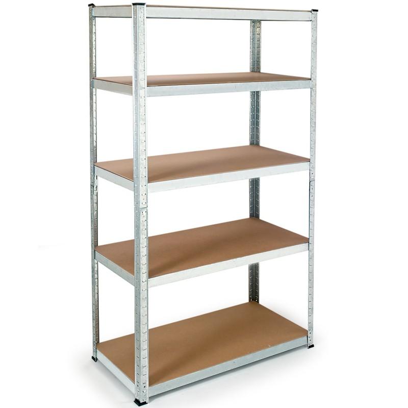 etagere modulable charges lourdes en metal 5 plateaux