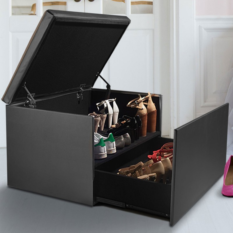 Coffre Rangement Banquette Luxe Gris Spcial Chaussures