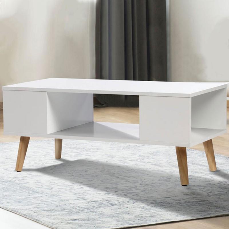 table basse effie scandinave bois blanc