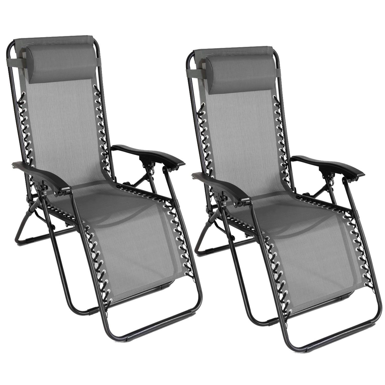 lot de 2 fauteuils relax de jardin gris anthracite chaises longues