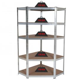 etagere d angle 5 plateaux charge lourde 875 kg en acier