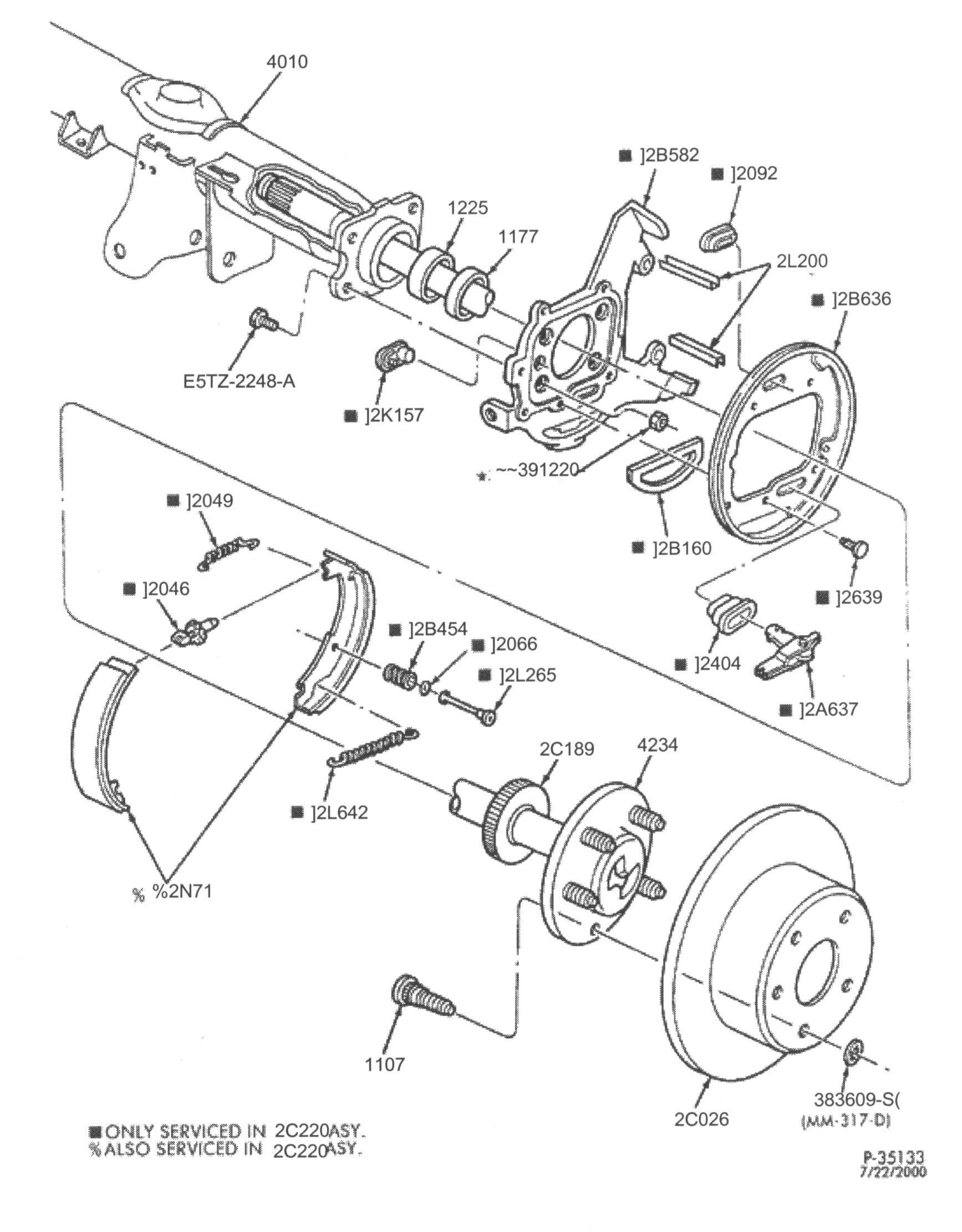 Ford Crown Victoria Brake Service Notes