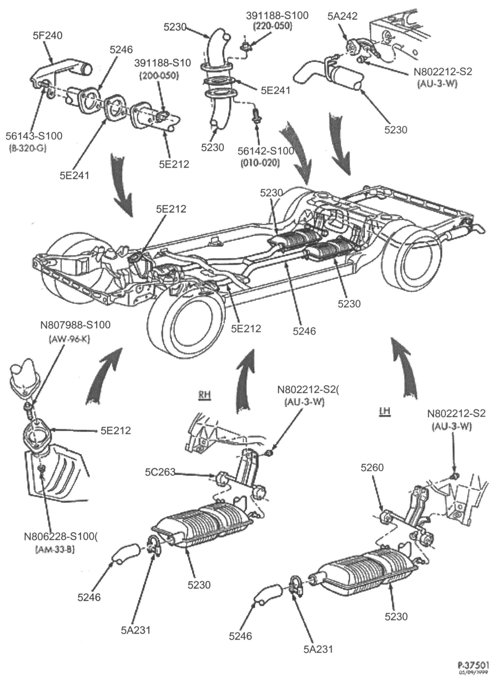 2002 Ford F 150 Exhaust System Diagram With O2 Sensor
