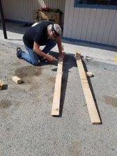 Vite 2 planches pour bricoler un porte kayak 😜‼