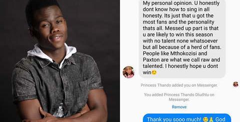 Botlhale Phora Cyber Bullying Idols SA