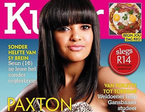 Paxton Fielies Kuier Magazine Cover