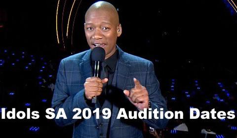 Idols SA 2019 Season 15 Audition Dates