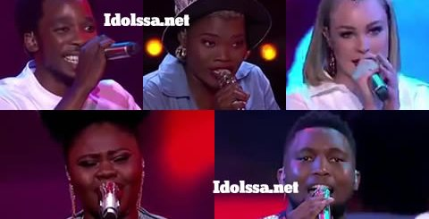 Idols SA 2019 Top 5 Contestants Viggy, Nolo, Micayla, Luyolo, Sneziey