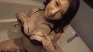 【亜里沙】Gカップ5 黒ビキニと泡とシャワーとベッド