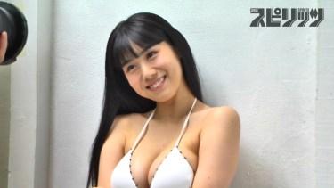 【石神澪】Fカップ2 スピリッツグラビア撮影!いろいろな水着姿で魅了!