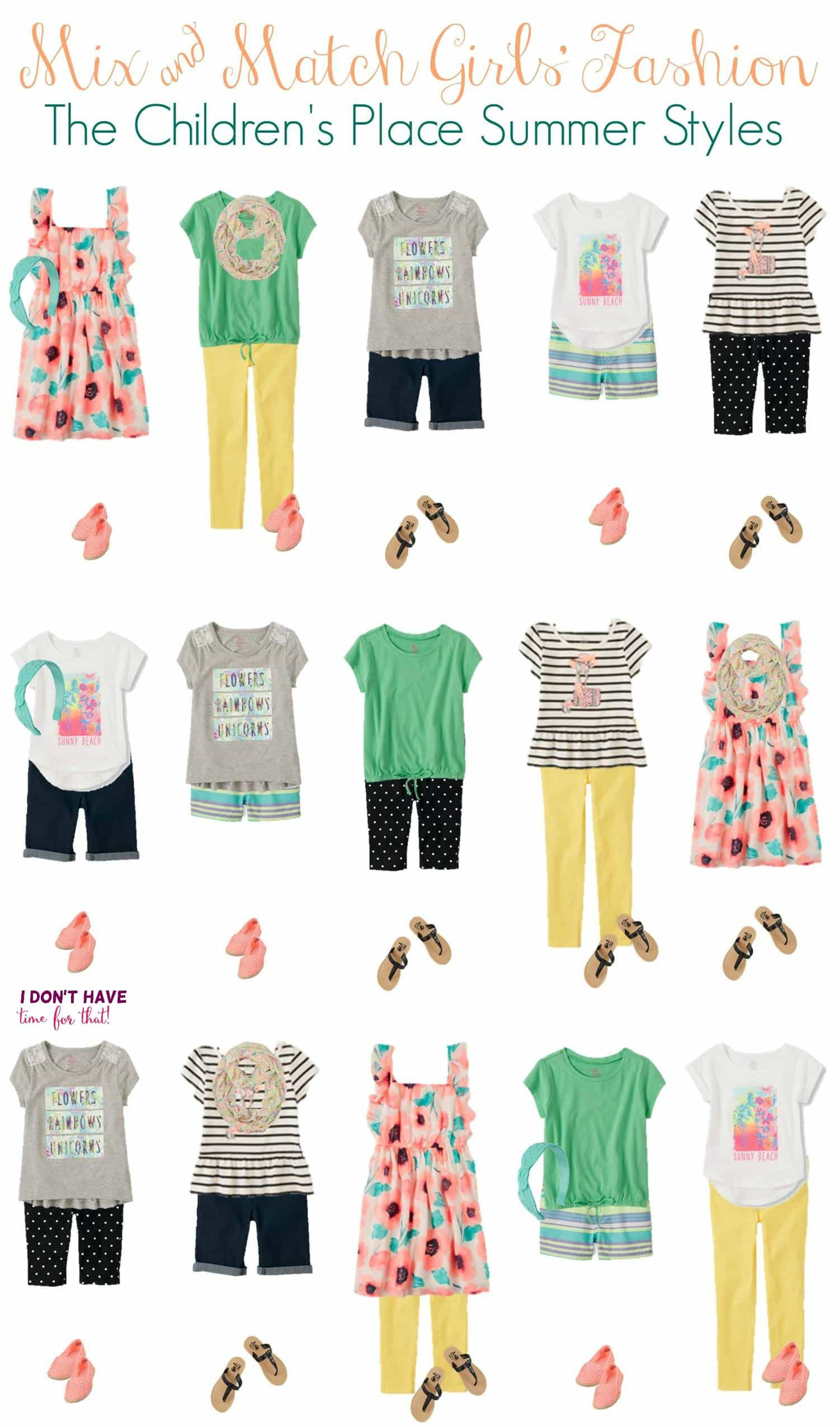 Summer Mix Amp Match Budget Wardrobe For Girls From The