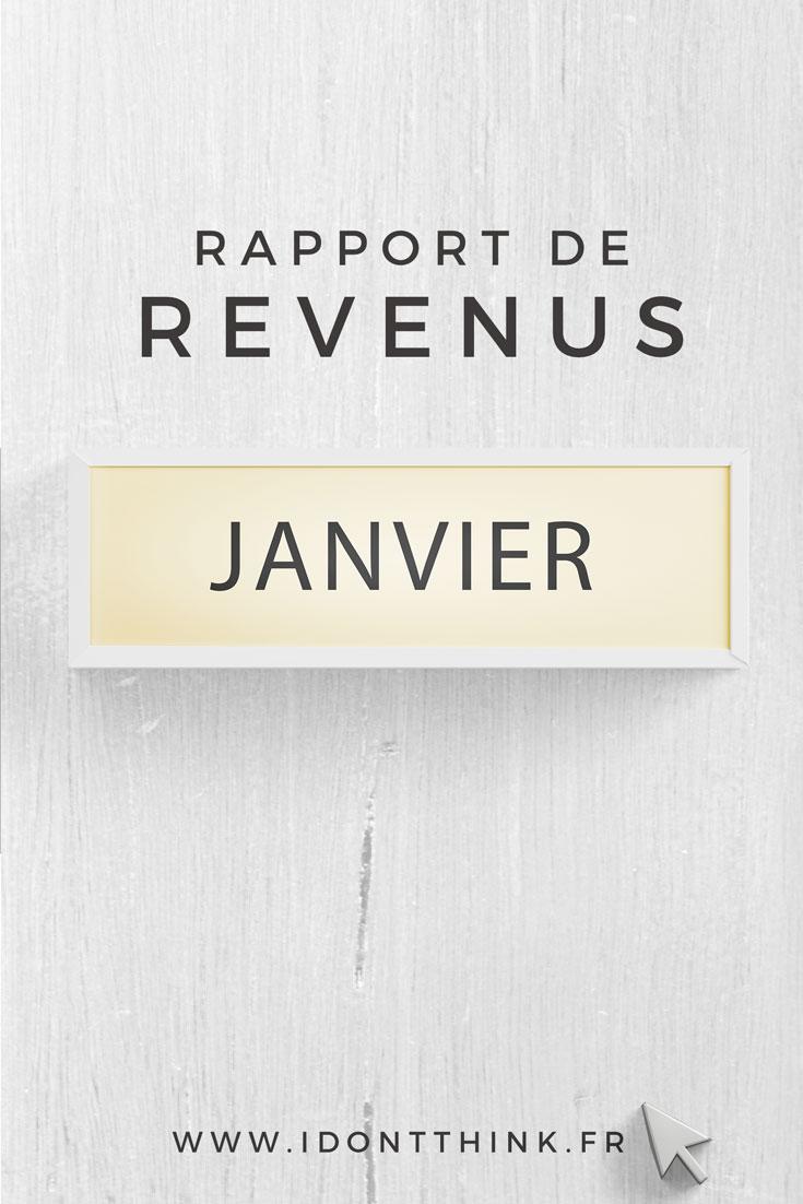 Rapport de revenus : Janvier 2018