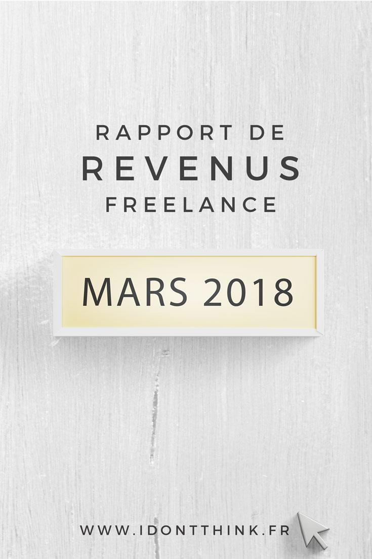 Rapport de Revenus Freelance : Mars 2018