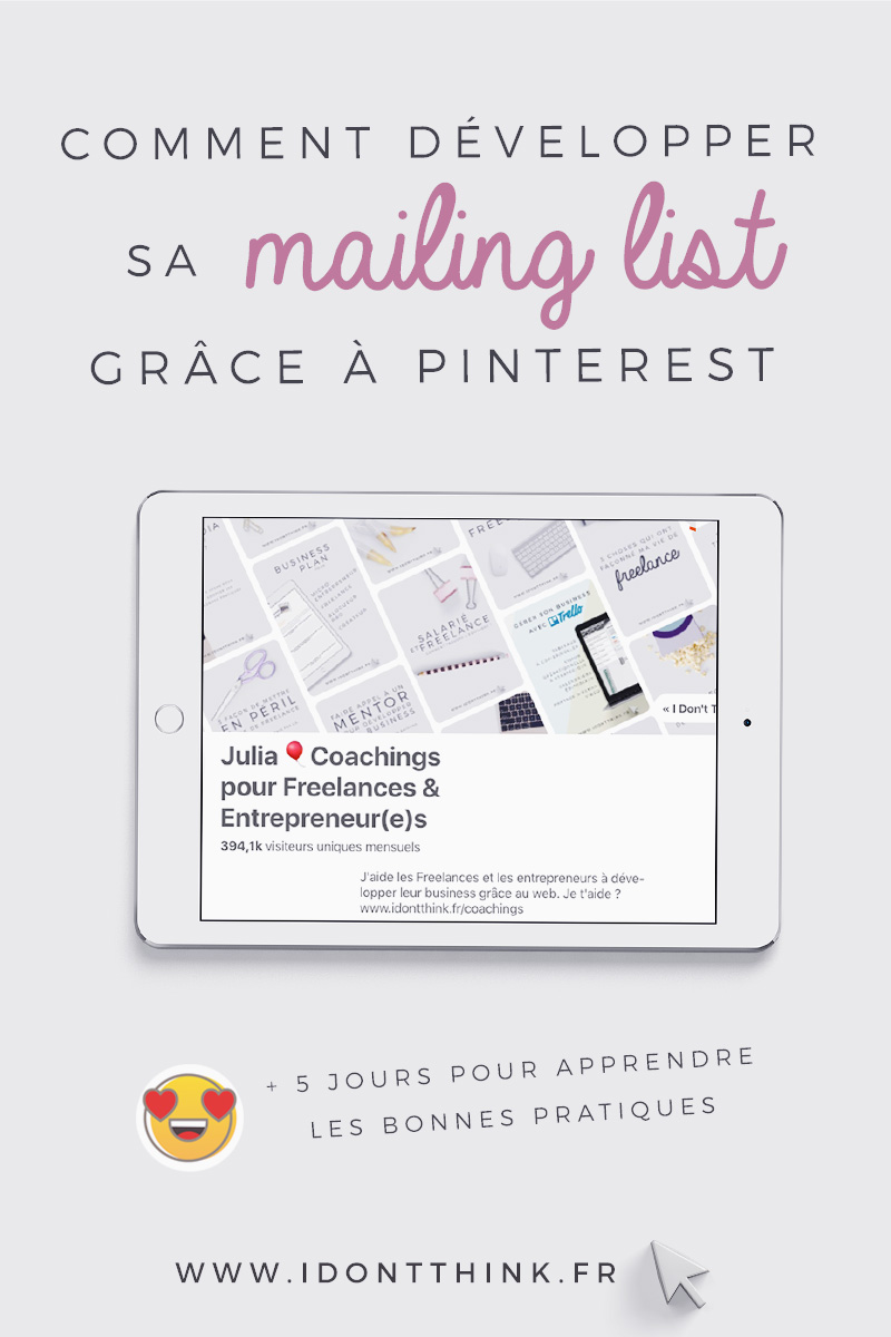 Développer sa mailing list grâce à Pinterest