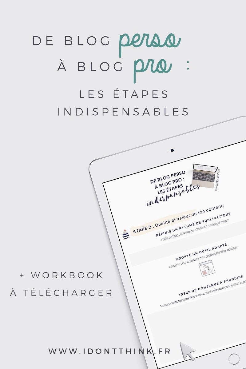 Passer d'un blog perso à un blog pro